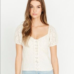 Floral Lace Top- NWT